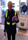 supermarket flyering staff