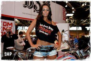 promo girls London Motorcycle Show