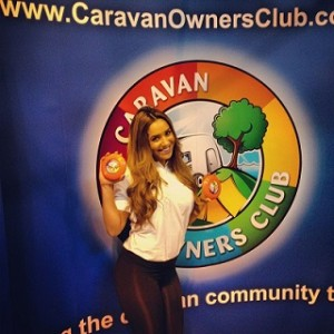 promotional staff nec birmingham for caravan show