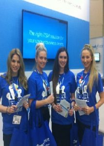 professional hostesses for conferences and trade shows in London, UK