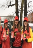 staff to hand out leaflets