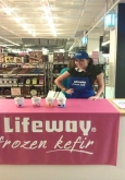 yoghurt sampling staff