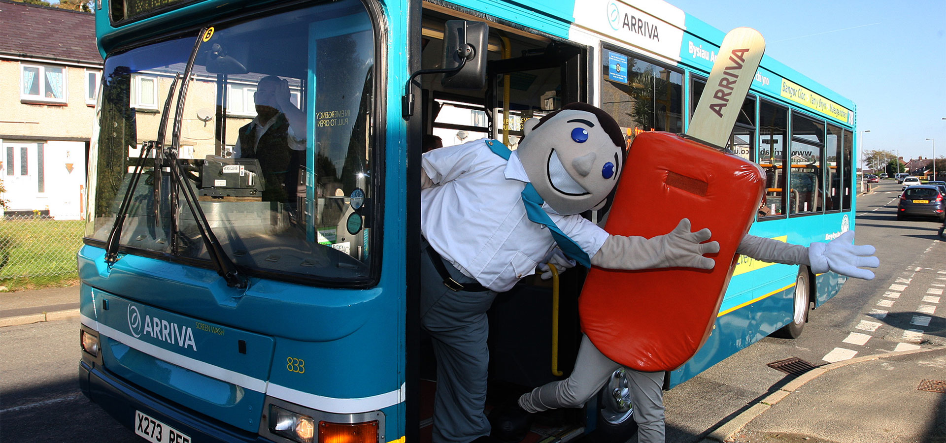 Promotional staff for Arriva event