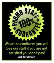 Promo Staff 100% Guarantee Logo